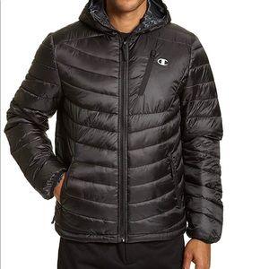 Men's Champion Lightweight Puffer Jacket with Hood